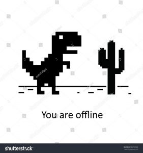 Dinosaur game in Google modifications