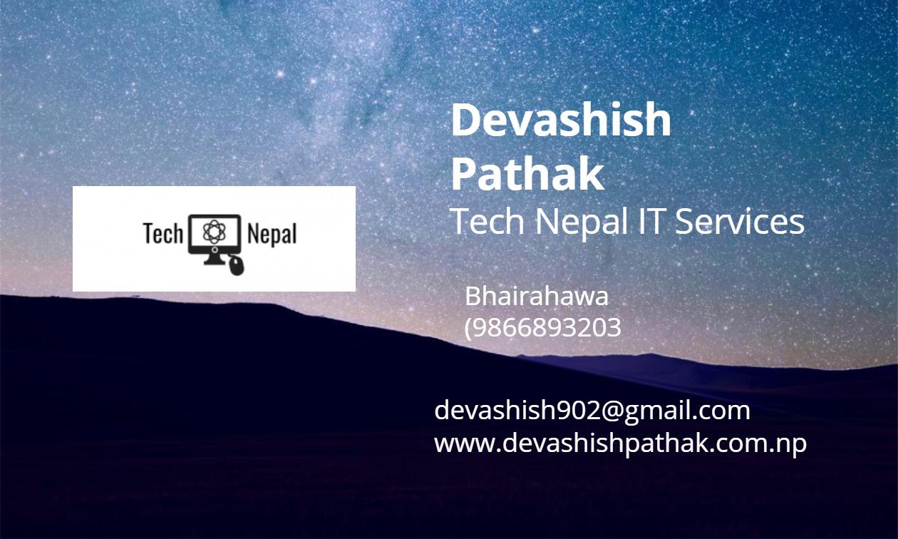 Devashish Pathak visiting card