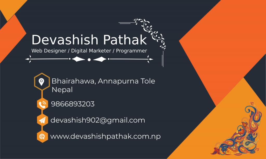 visiting card-devashish-pathak